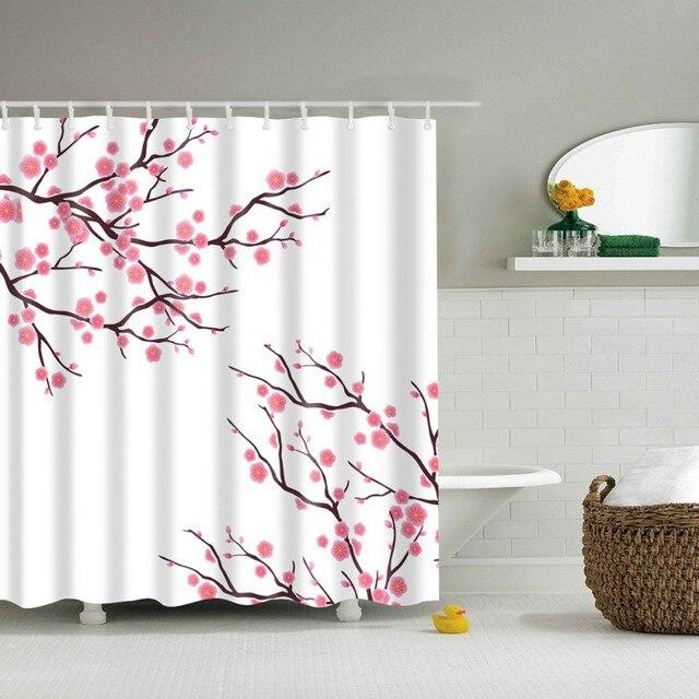 180*180CM 3D High Definition Digital Printing Shower Curtain Waterproof  Moisture Mildew Shower Curtain