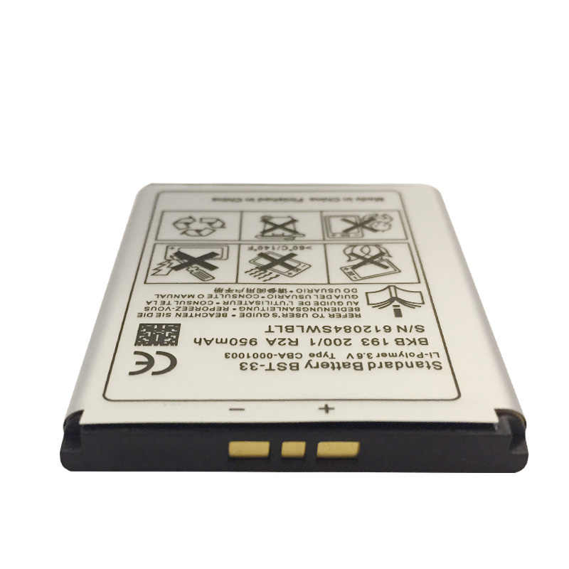 BST-33 BST 33 الهاتف بطارية لسوني اريكسون K530i K550i K630i K660i K790i K800i M600i P1i Z800 V800 W850 W900 W950 K800 M600