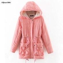 2018 New winter coat women Fleece Parkas Hoodies  jackets winter jacket women Slim Parkas warm long jacket female coats thermal
