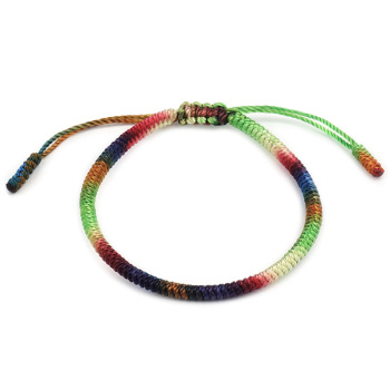 Tibetan Buddhist Handbraided 7 Chakra Color Knots Lucky Rope Bracelet Monks Blessed Handmade Yoga Meditation Healing Bangle buddhist rope bracelet