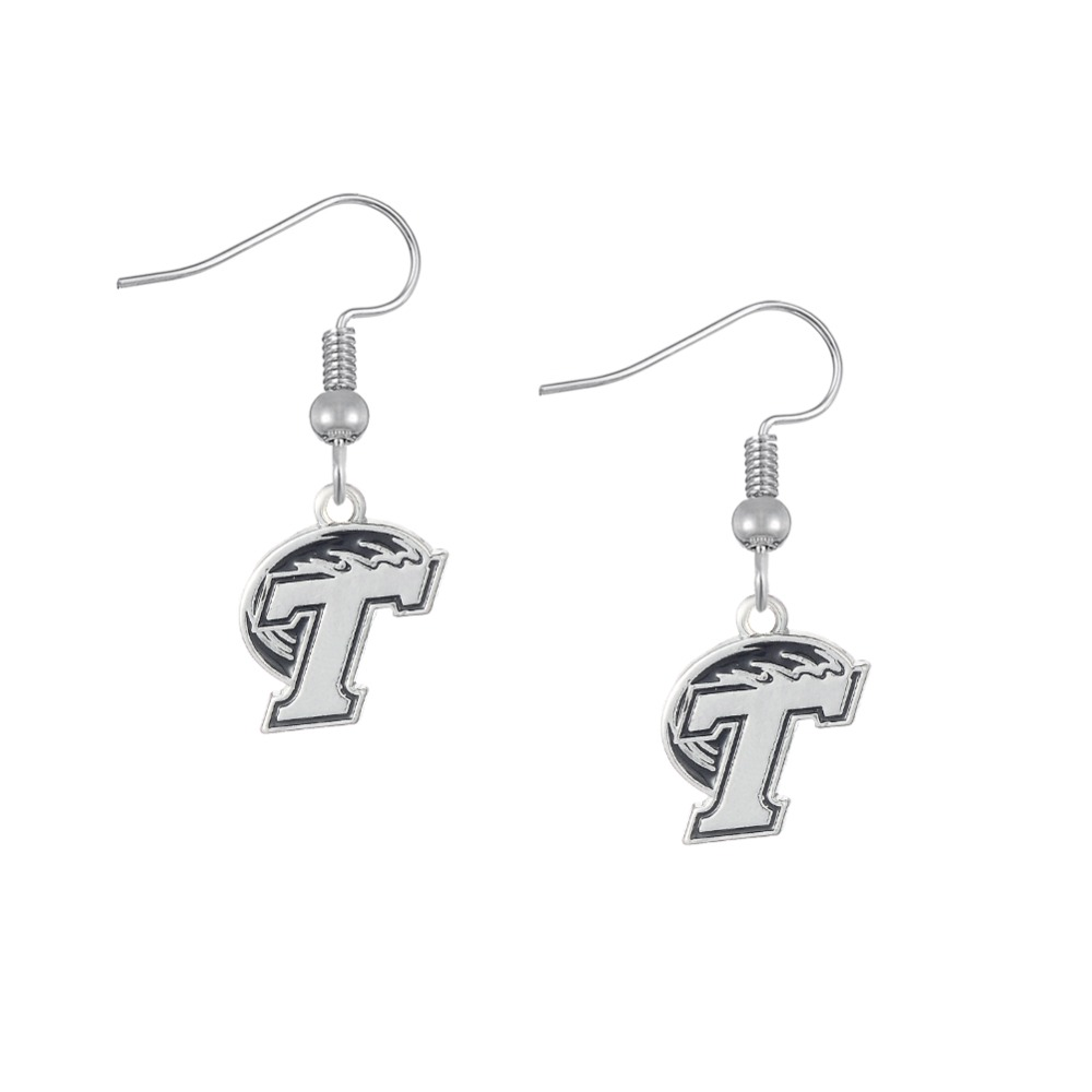 Home college tulane green wave tulane green wave silver plated - Skyrim Sports Fans Gifts Zinc Alloy Tulane Green Wave Ncaa Logo Earring China Mainland
