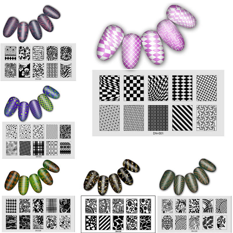 30pcs/set Nail Stamping Plates Nail Art Polish Stamp Stainless Steel DIY Nail Art Template Set Manicure Nail Tools 3 4 4 4 1 2 1 4 1 8 1 16