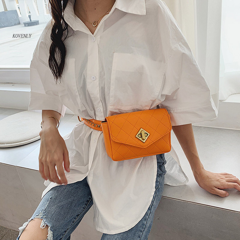 Women Waist Bag Ladies High Quality Fanny Pack Fashion Chain Shoulder Bag Summer Chest Bags For Girl Phone Purse Crossbody Pack
