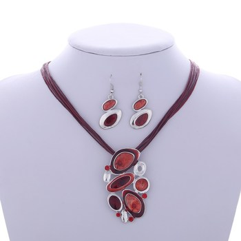 Fashion Geometric Jewelry Sets Jewelry Jewelry Sets Women Jewelry Metal Color: F847