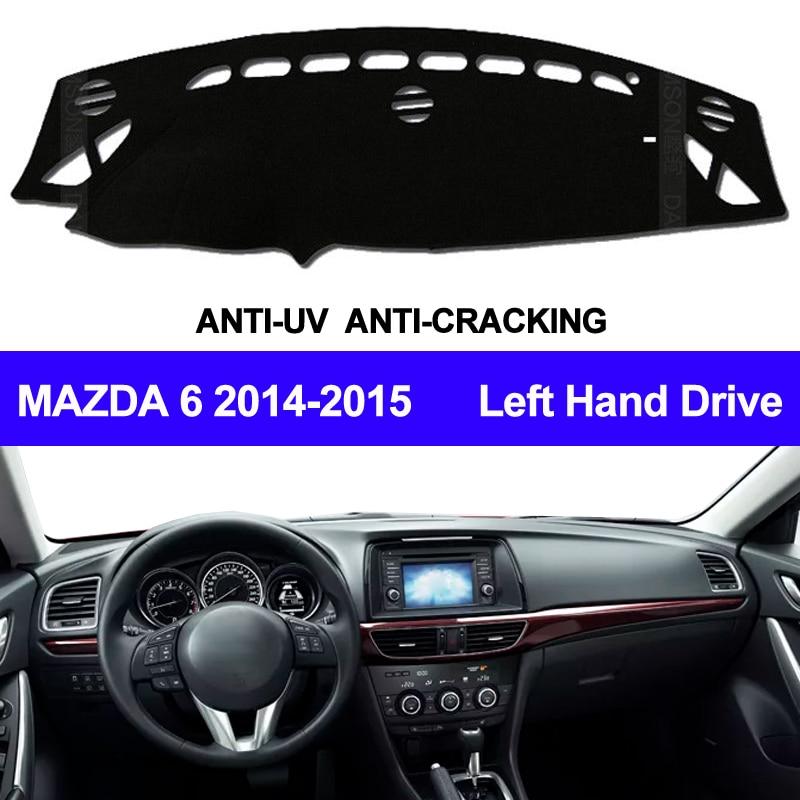 TAIJS Car Dashboard Cover Dash Mat For Mazda 6 2014 2015 Non-slip Sun Shade Automobile Dash Mat  Pad Carpet Anti-UV Car Styling