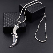 Hip Hop Sword Dagger Knife stainless steel Necklaces Pendant For Men Stainless Steel Male Bike Jewelry xlct046