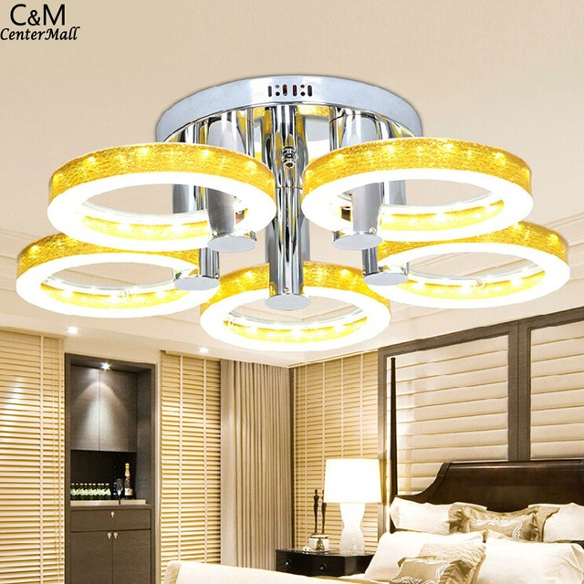 GQMML European Modern Style LED Acrylic Light for Living Room With 5 Lights