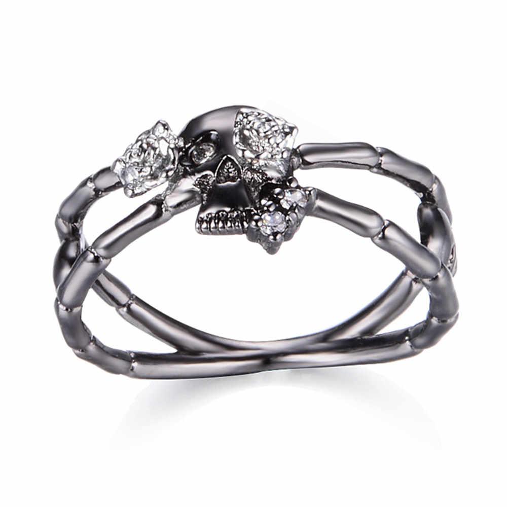 แฟชั่น rose แหวนทองแดง 2 สี electroplated zircon แหวนหญิง