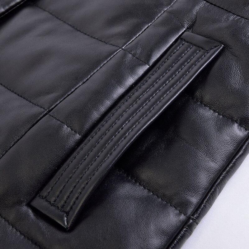 Vers Le Vison Veste Véritable Cuir Peau Femmes Manteau Bas Fourrure De Black Automne Col Vêtements Mouton En Zt1422 Hiver 2018 1WBWOg