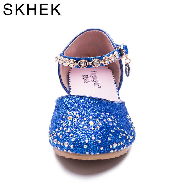 2018 Children Princess Sandals Kids Girls Wedding Shoes High Heels Dress  Shoes Party Shoes For Girls 977cfd64b318