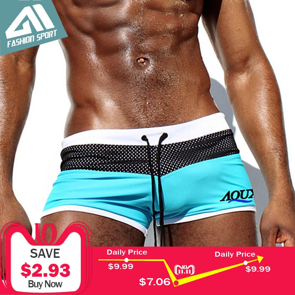 Aimpact nuevos hombres de baño de alta calidad de los hombres pantalones cortos de los hombres ropa de deporte de verano Vacaciones de Surf para hombre traje de baño AQ01