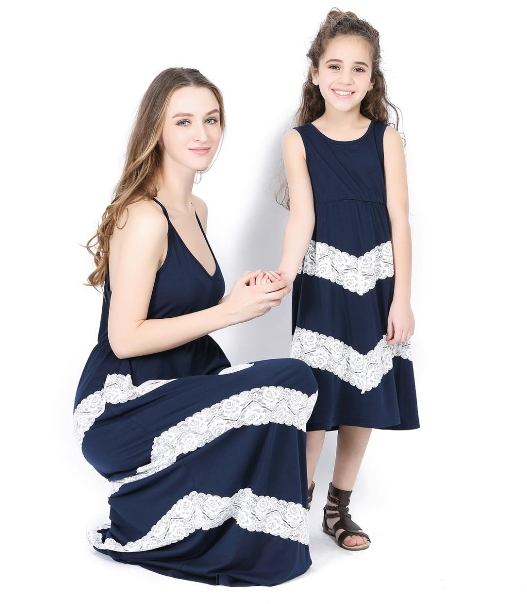 2018 Mother Daughter Dresses striped Clothing Black Mommy and Me Clothes mom  and baby daughter elegant dress family clothing -in Matching Family Outfits  ... b9cd8b4e6