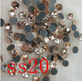 DMC HotFix FlatBack Rhinestones peach 1440pcs ss20 strass hotfix rhinestone Wedding Dres garment accessaries