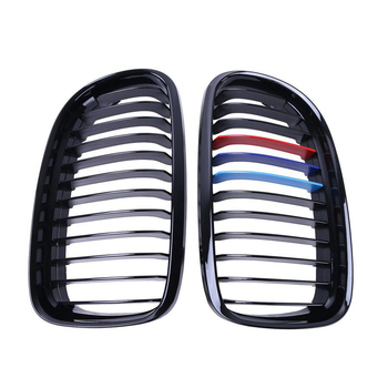 Xe Phong Cách Matte Thận Xe Phía Trước Auto Car Racing Grille đối với BMW 3-serise E90 LCI Sedan Matte Grille Grills 09-11
