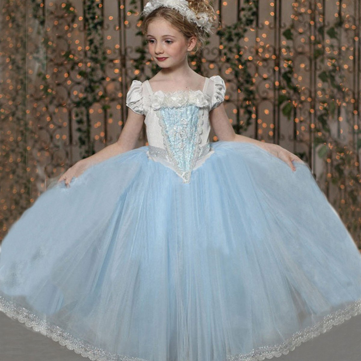 Flower Girls Princess Dress Kids Party Wedding Pageant Formal Tulle ...