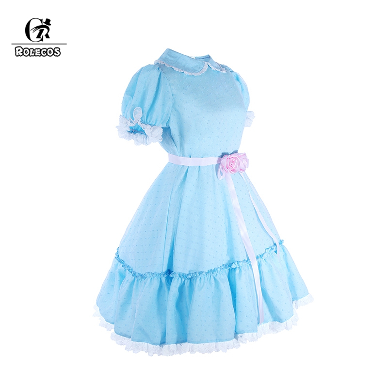 Us 31 9 45 Off Rolecos Women Costume The Shining Twins Cosplay Sweet Dress Horror Movie Party Clothing On