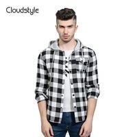 Couldstyle Gloednieuwe Mannen Shirts Casual 2 Kleur Plaid Business Formele Shirts Slim Fit Shirts Mannen Met Hoed Geïmporteerd-kleding
