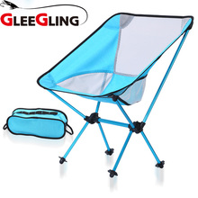цены GLEEGLING FLC02 Outdoor Fishing Chair Seat Chaise Pliante Camping Stool Lightweight for Fishing Festival Picnic BBQ Beach Chairs
