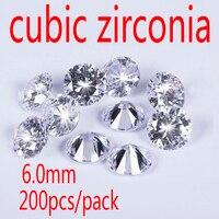 Wholesale Jewelry Supplies Swiss AAA Grade CZ Cubic Zirconia Round Zircon 6 0MM DIY Jewelry Findings