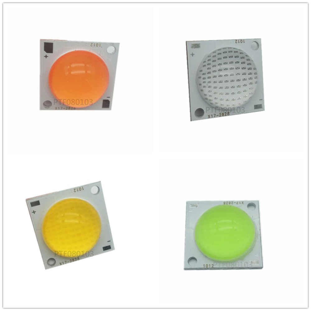 50W High Power COB LED Lamp Beads White Red Green Blue With 60 Degree Lens