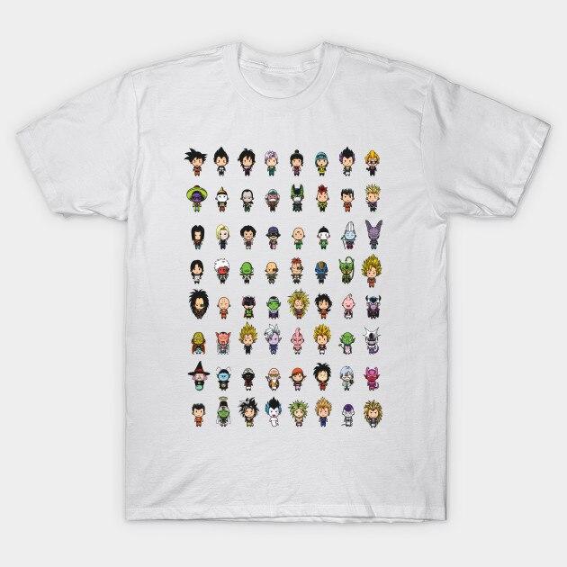 2017 Latest Summer Anime Dragon Ball Z Small Potato Printing T Shirt Funny O-Neck Dragon Goku Angel Design T-Shirt Cool Tee Tops