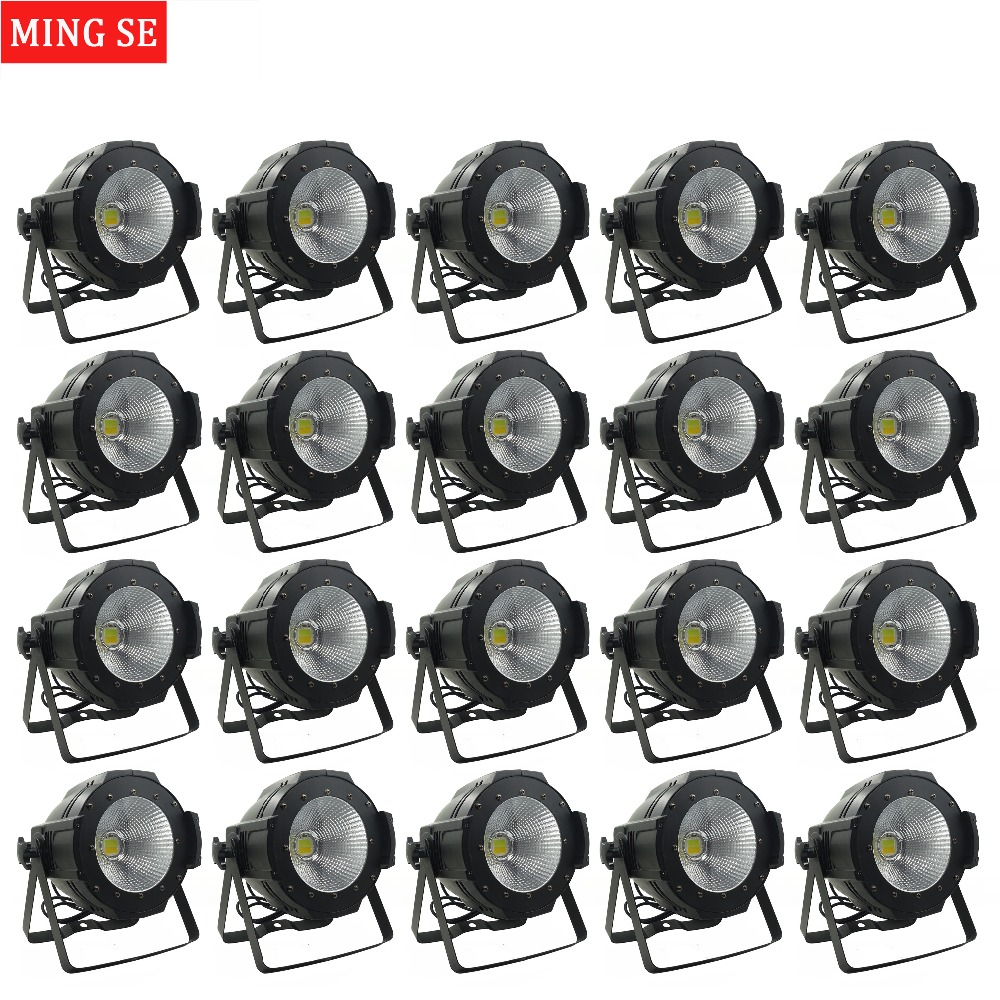 20units LED Par COB Light 100W High Power Aluminium DJ DMX Led Beam Wash Strobe Effect Stage Lighting,Cool White and Warm White