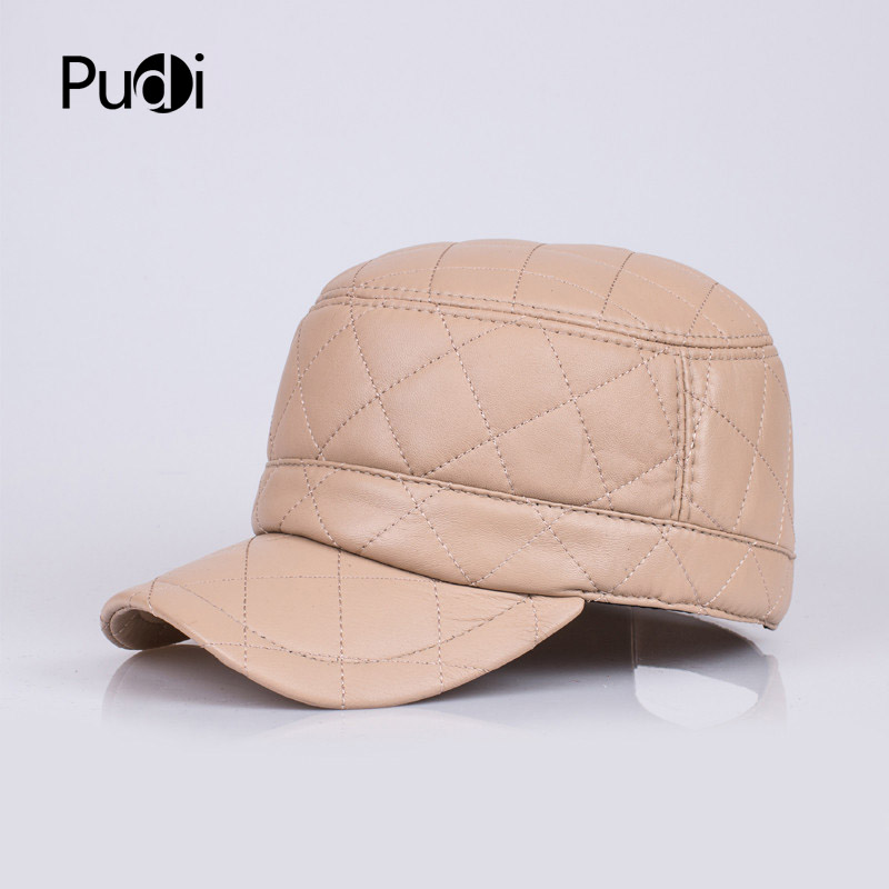 HL067 genuine leather baseball cap/hat brand new men's real leather adjustable army caps/hats with 3 colors aorice autumn winter men caps genuine leather baseball cap brand new men s real cow skin leather hats warm hat 4 colors hl131