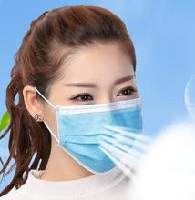 50pc Dustproof Facial Protective Cover Disposable Face Mask Mouth Medical Dental Earloop Anti-Dust Surgical Masks