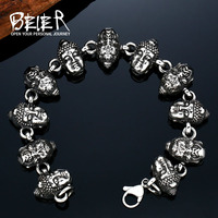 BEIER New Design Cheap Man S Stainless Steel Buddhism Bracelet Fashion Man S Jewerly BC8 032