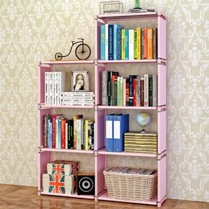 Image 3 - ชั้นวางหนังสือโมเดิร์นยืนชั้นวาง DIY มัลติฟังก์ชั่ชั้นวาง 4 ชั้น 5 ชั้น Combination Home เฟอร์นิเจอร์ Book Case