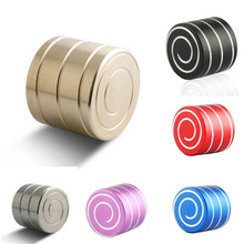 Vortecon Kinetic Desktop Toys Copper/ Aluminum Alloy Decompression Hypnosis Rotary Gyro Adult Fingertip Toy Children Toys Gift(China)