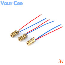 100 pcs 650nm 6mm 3 V 5 mW Laser Diode Dot Đun Red Copper Head