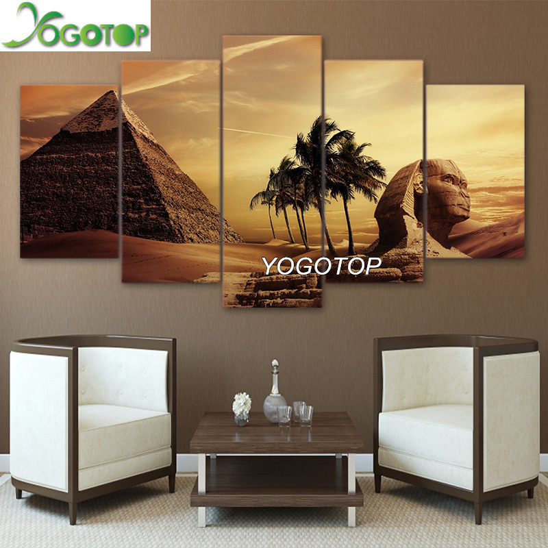 YOGOTOP FAI DA TE Diamante Pittura A Punto Croce Kit Piena Ricamo Diamante 5D Piazza Mosaico Home Decor Piramidi Egiziane al 5 pz ML327