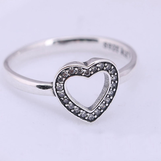 925 Sterling Silver Ring Symbol Dangle Fits Jewelry Love Heart