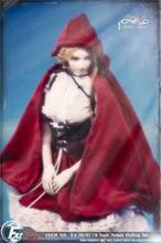FASToys 1/6 FA 18 07 Poco Cappuccio di Guida Rosso Gothic Lolita abbigliamento set per TBleague S22A JIAOUL Corpo Action Figure Toy
