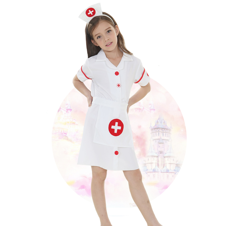 Fancy Kids Christmas Cosplay Costume Doctor Costume Little Nurse Uniform For Girl -6262