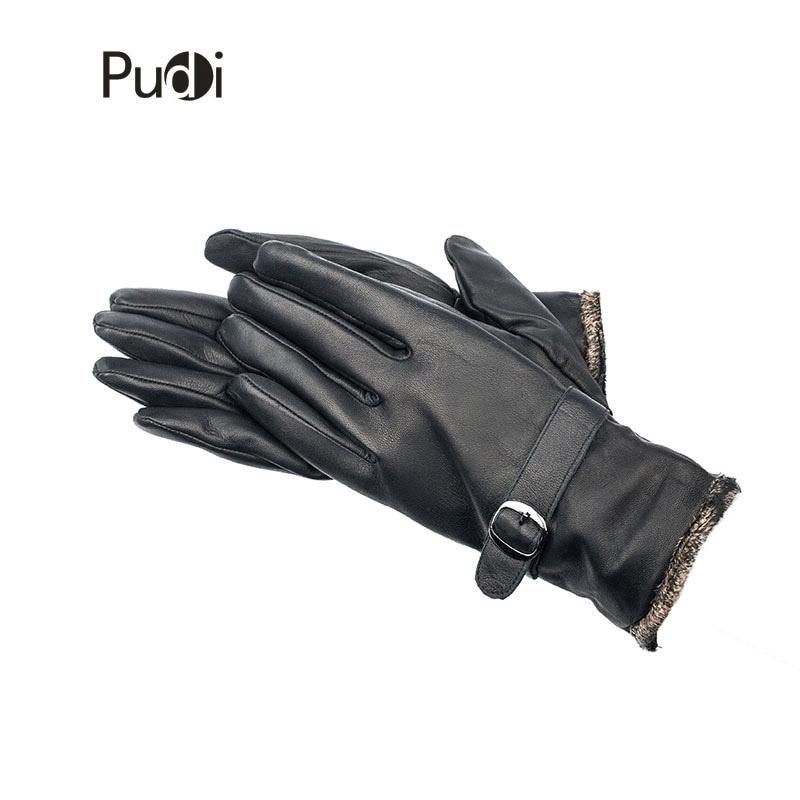 GL7002 pánské pravé kožené rukavice zbrusu nový styl zimní - Příslušenství pro oděvy