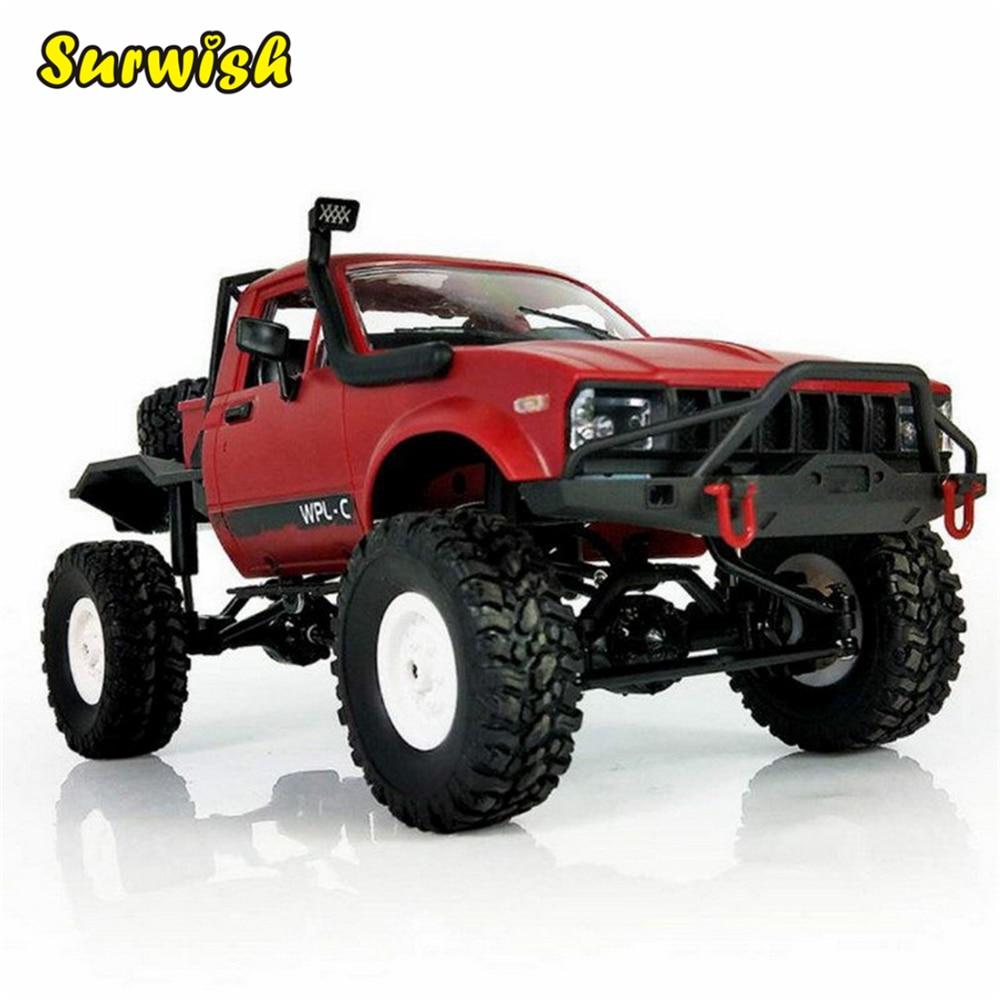 цена на WPL C-14 Hynix Off-road Car 1:16 Scale Rock Crawler RC Toy Car - Red
