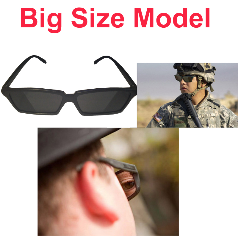 Big Size Personal Security Glasses 18deg Rearview Sunglasses Anti-track Glasses Security Mirror Security Parts Serveillance