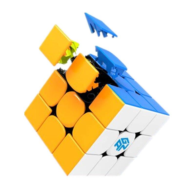 Gan 354 M puzzle magnétique magique vitesse cube 3x3 autocollant moins professionnel Gan354 aimants vitesse cubo magico 354 M jouets pour enfants