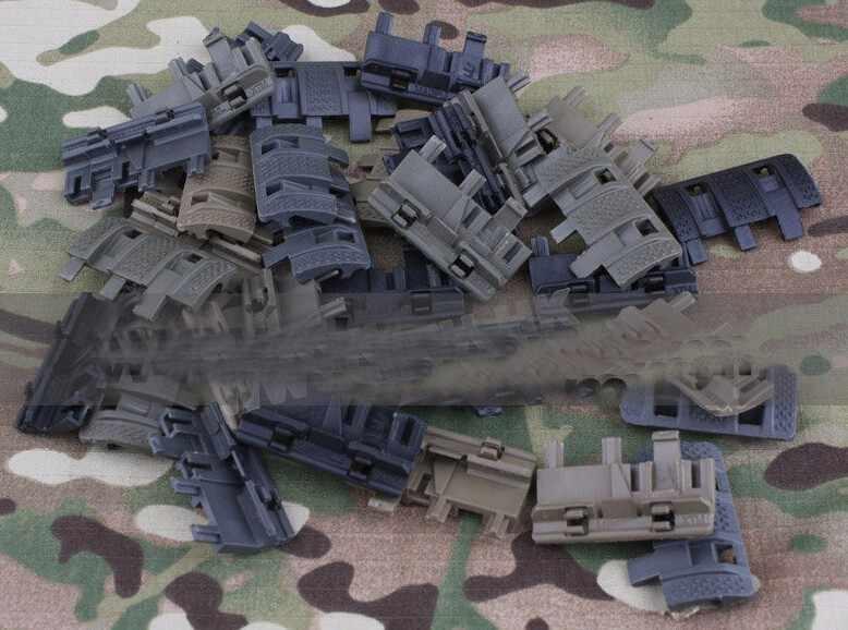 32 Sztuk w 1 Paczka Tactical Airsoft Rail Pend 4 Kolorów Dostępna Nowy panel Panele Obejmuje Płaski Pat Polowanie Strzelanie akcesoria