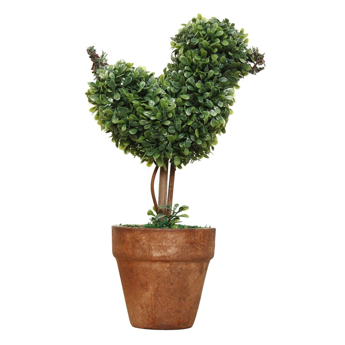 Design créatif en plastique jardin herbe boule topiaire arbre Pot ...