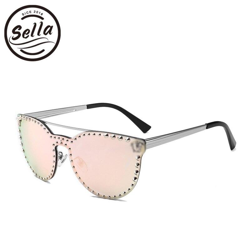 ae199277dd Sella High Quality Super Fashion Women Men Retro Cateye Nail Decoration  Mirror Lens Sunglasses New Arrival Trending Punk Glasses-in Sunglasses from  Apparel ...