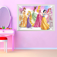 Get more info on the 3D False Window Princess Wall Stickers for Kids Rooms Home Decoration DIY Adesivo de Parede Bedroom Mural Girl's Gift Poster
