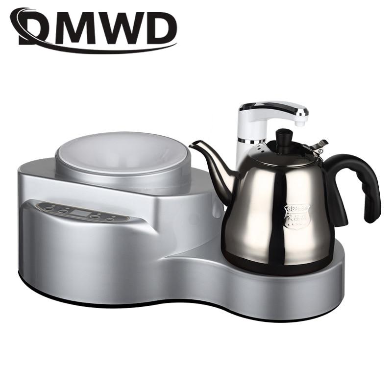 цена DMWD Instant hot water dispenser Pump Water Drinking Machine 1L Stainless Steel Electric Kettle mini tea bar machine home office в интернет-магазинах
