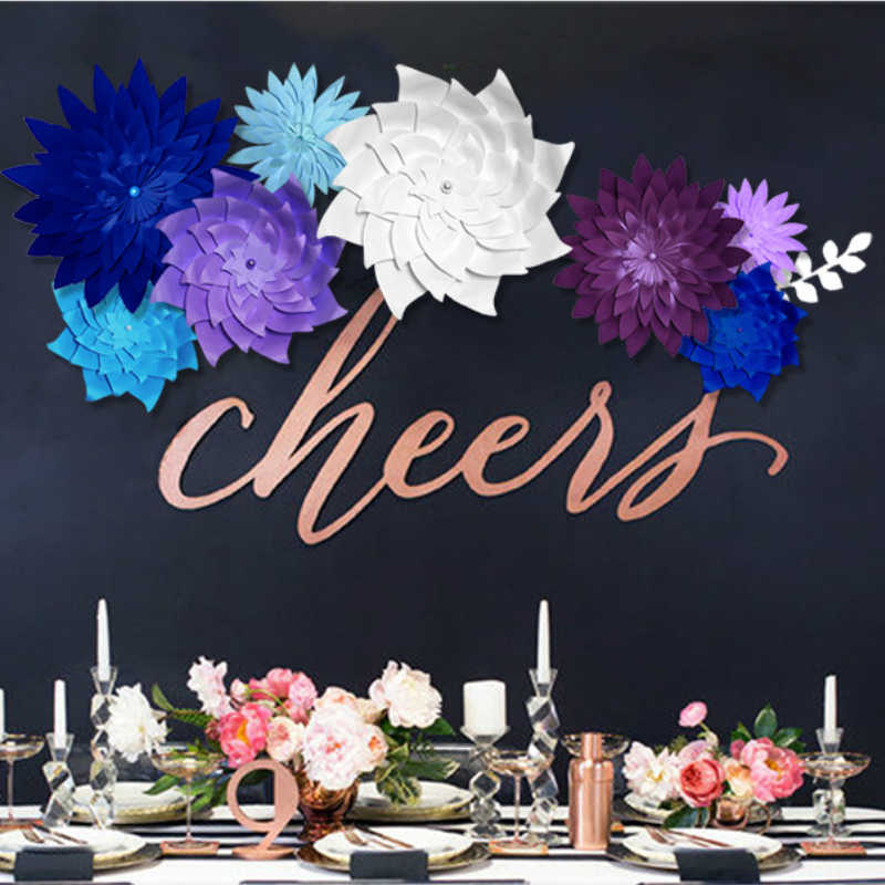 Detail Feedback Questions About Diy Half Made Giant Paper Flowers Large Artificial Chrysanthemum Home Wedding Party Backdrop Wall Decorations