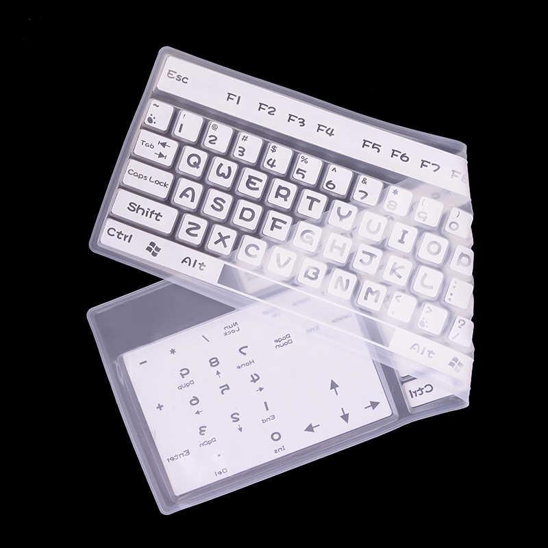 Keyboard Silikon Cover 44.5*13 Cm Transparan Bening Pelindung Universal Desktop Komputer Keyboard Protector untuk MacBook Air