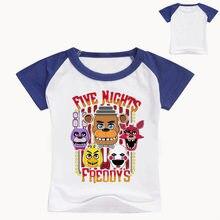 YLS 2-16Years pequeño algodón Verano de 2018 niños camisas Fnaf T camisas  con Freddy camiseta niños Camiseta de manga corta Kiss. ebbb8288d48