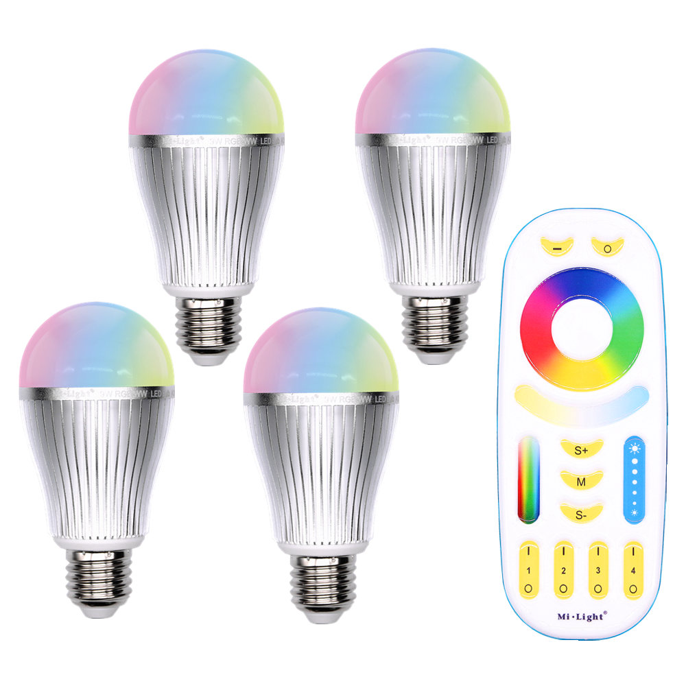 E27 9W RGB RGBW RGBWW Mi Light LED lamp AC 85V-265V 2.4G RF Wifi Remote Control Smart Bulb Night Atmosphere lighting zuke rechargeable outdoor solar light dimmable e27 led bulb lamp remote control indoor reading lighting camping night light