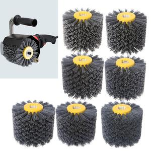 Buffer-Wheel Polishing-Grinding-Tool Deburring-Abrasive-Wire Drawing Brush-Head Rotary-Drill